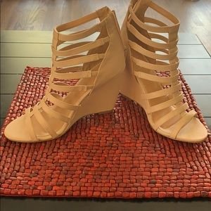Gladiator style nude wedge  style sandals
